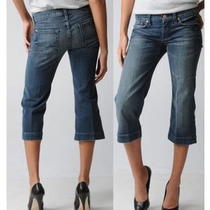 7 FOR ALL MANKIND CROP DOJO W/SQUIGGLE JEAN